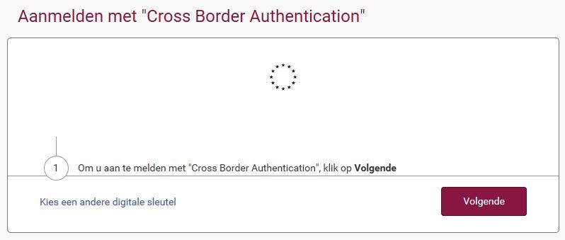 Aanmelden met Cross Border Authentication