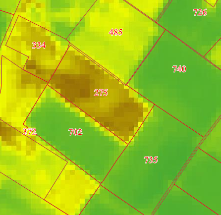 Satellietbeeld Voorbeeld groei-indices